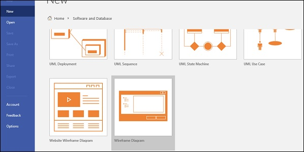 Microsoft Visio Prototyping Software Using Wireframes