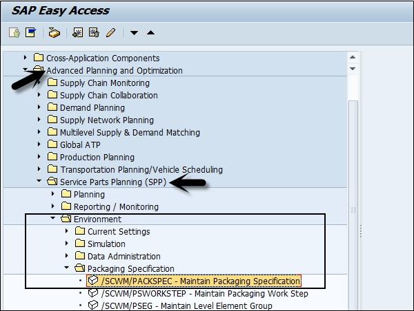 SAP APO Service Part Planning