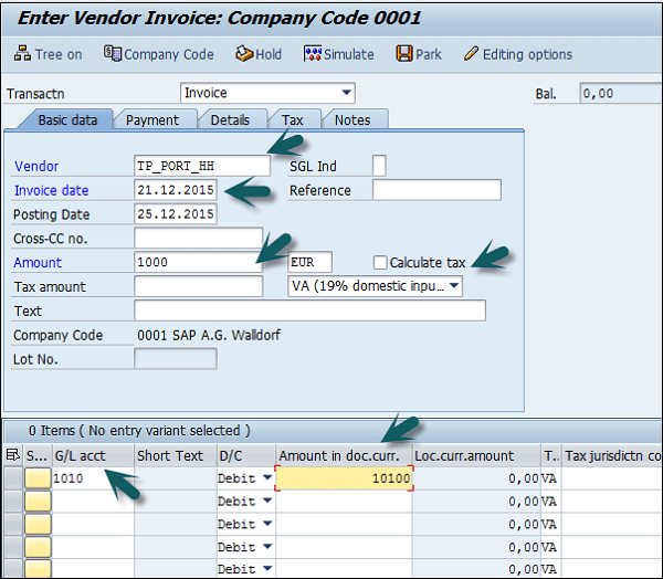 SAP FI Withholding Tax In Vendor Invoice