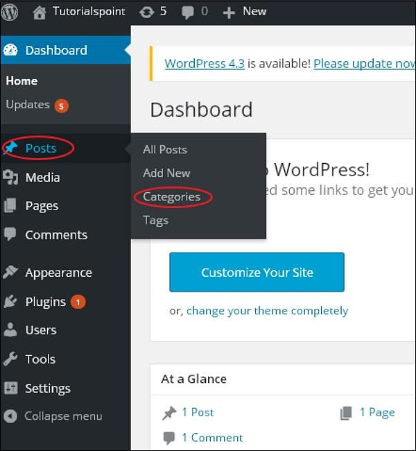 WordPress Edit Category