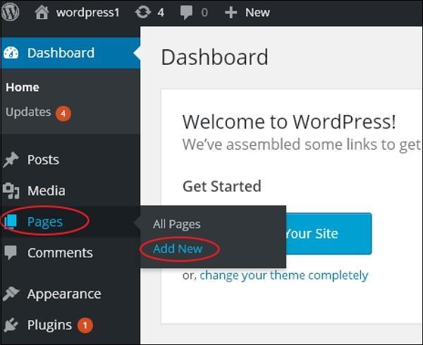 WordPress Publish Pages