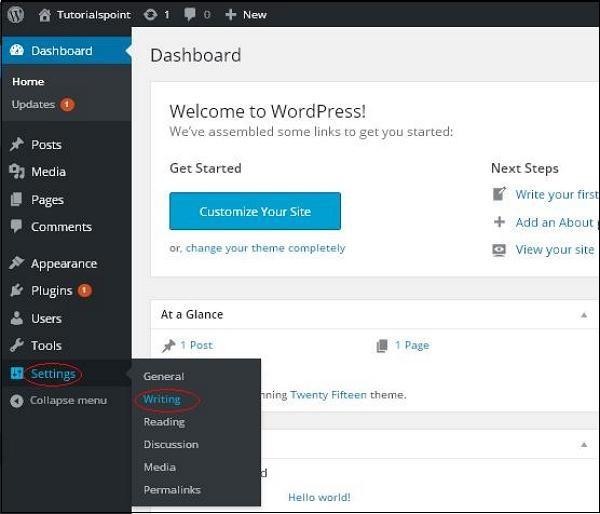 WordPress Writing Setting