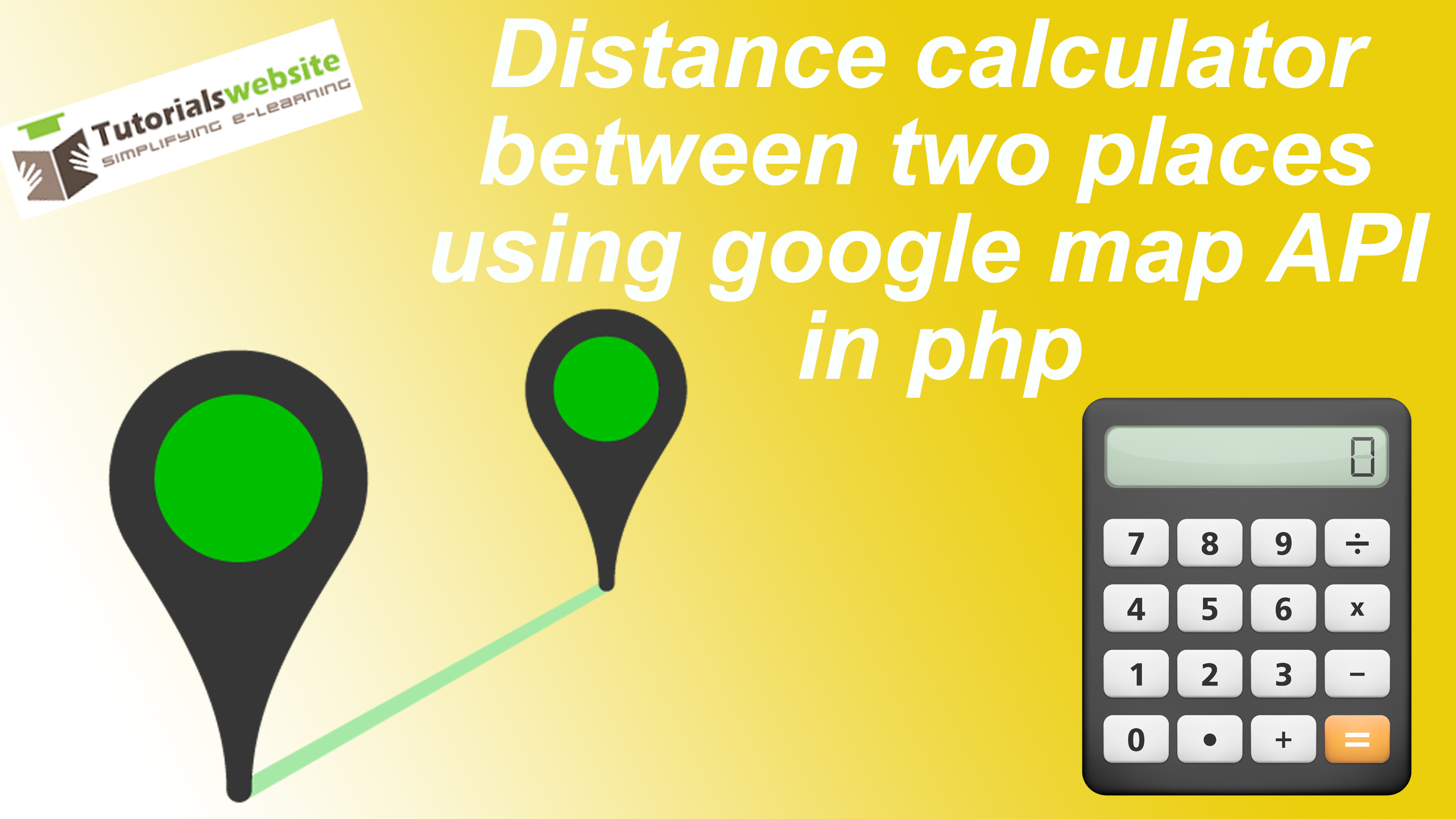 Distance calculator between two places using google map API in php