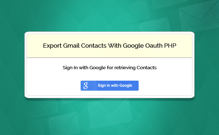 export gmail contacts in php