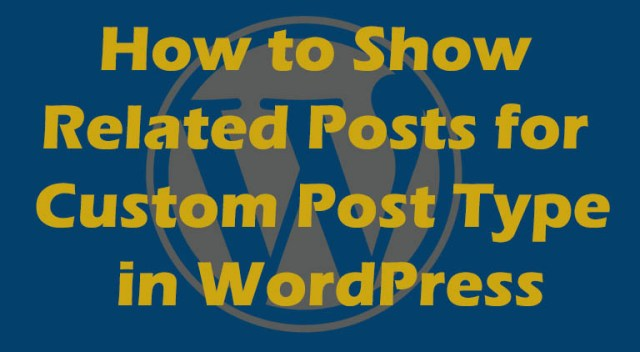 related post in wordpress
