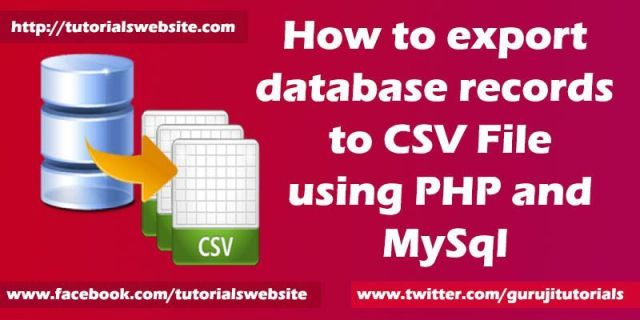 export data to csv file using php and mysql
