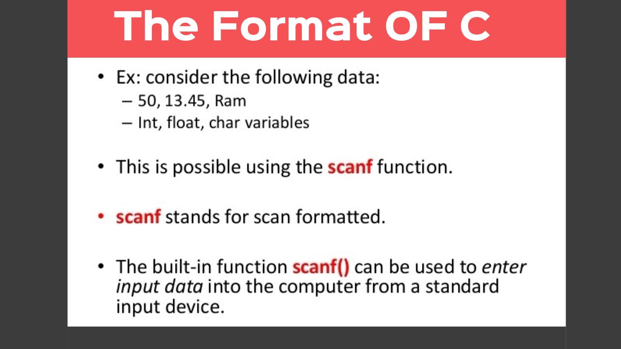 Format of C