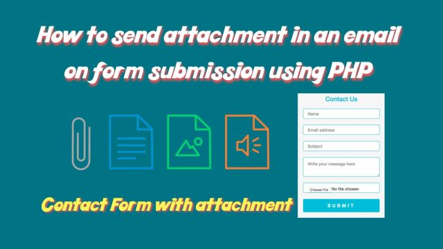 send mail with attachment in php