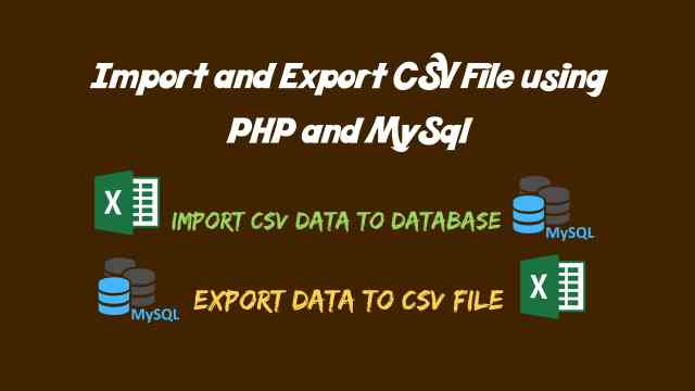 Import CSV Data into Database