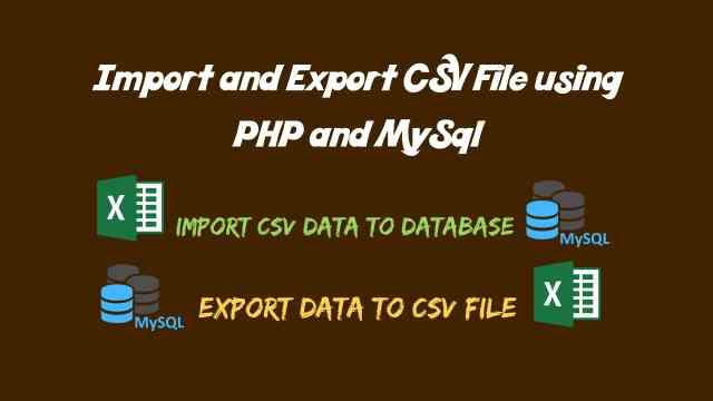 Import CSV Data into Database