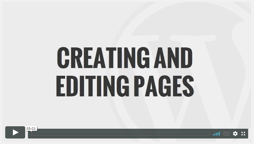 Creating and Editing Pages