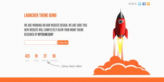 launcher theme WordPress
