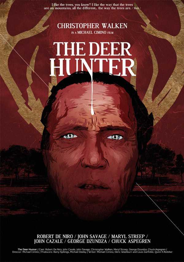 the Deer hunter cartaz vetorial