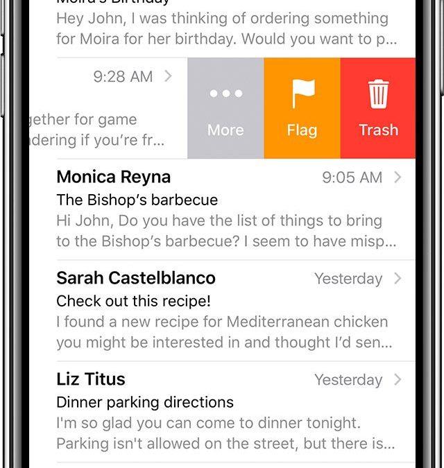 Comment récupérer un email supprimé par accident sur iPhone