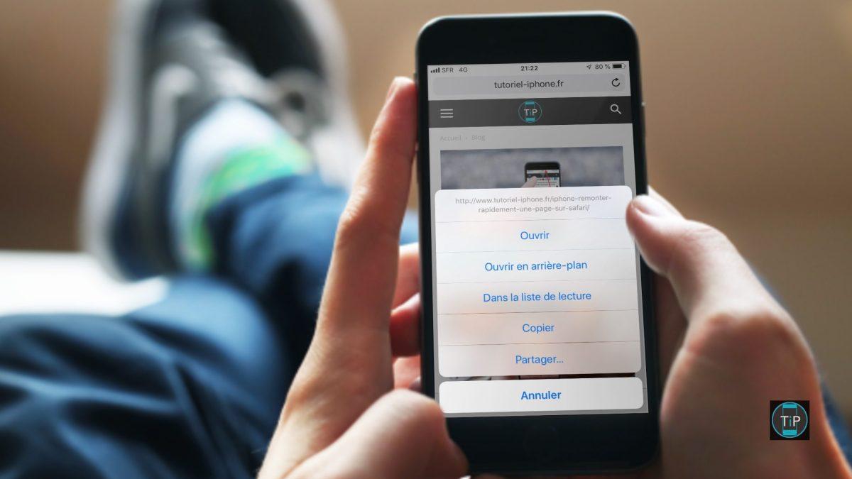 Comment ouvrir un lien Safari en arrière-plan sur iPhone/iPad
