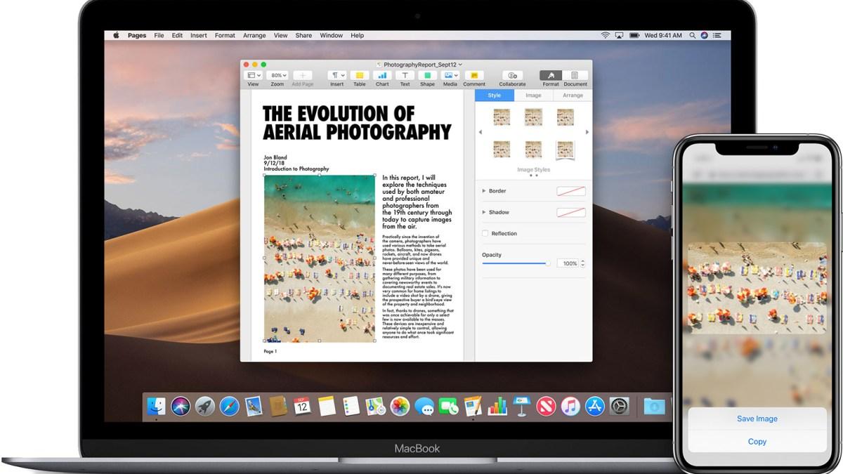 Comment copier coller du contenu entre plusieurs appareils Apple en un geste