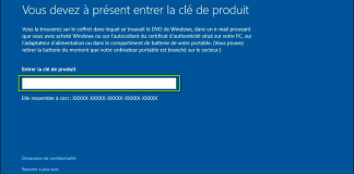 Clé d'activation Windows 10 professionnel