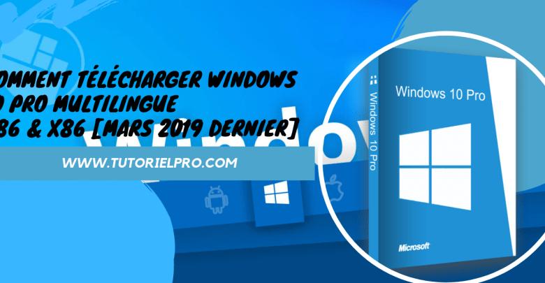 Télécharger Windows 10 Pro multilingue