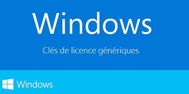 Clé dactivation Windows 10 professionnel