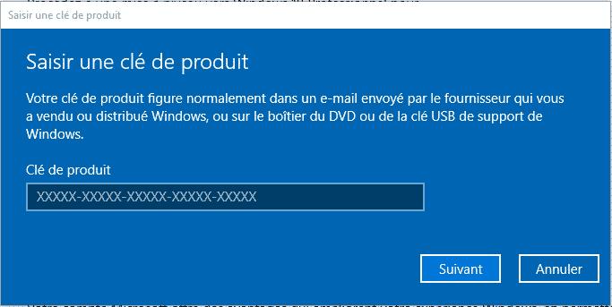 cle de licence windows 10 pro