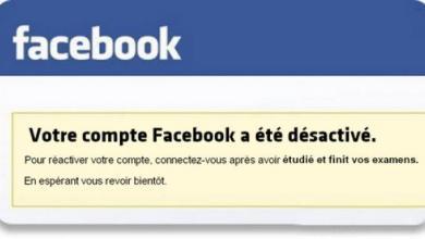 Mon compte Facebook a été désactivé