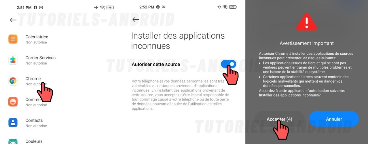 Autoriser Sources Inconnues MIUI12