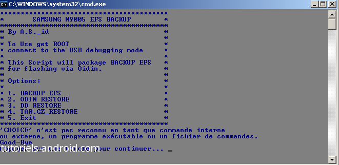 Script EFS-BACKUP - GALAXY Note 3