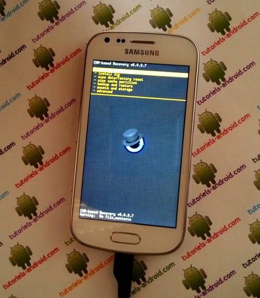 Capture d'écran : ROOT + CWM recovery - S7580