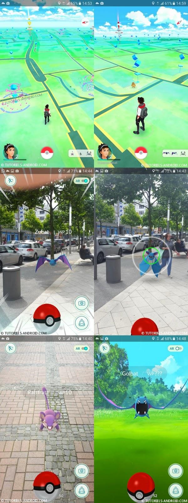 Captures d'écran : Pokemon GO Android