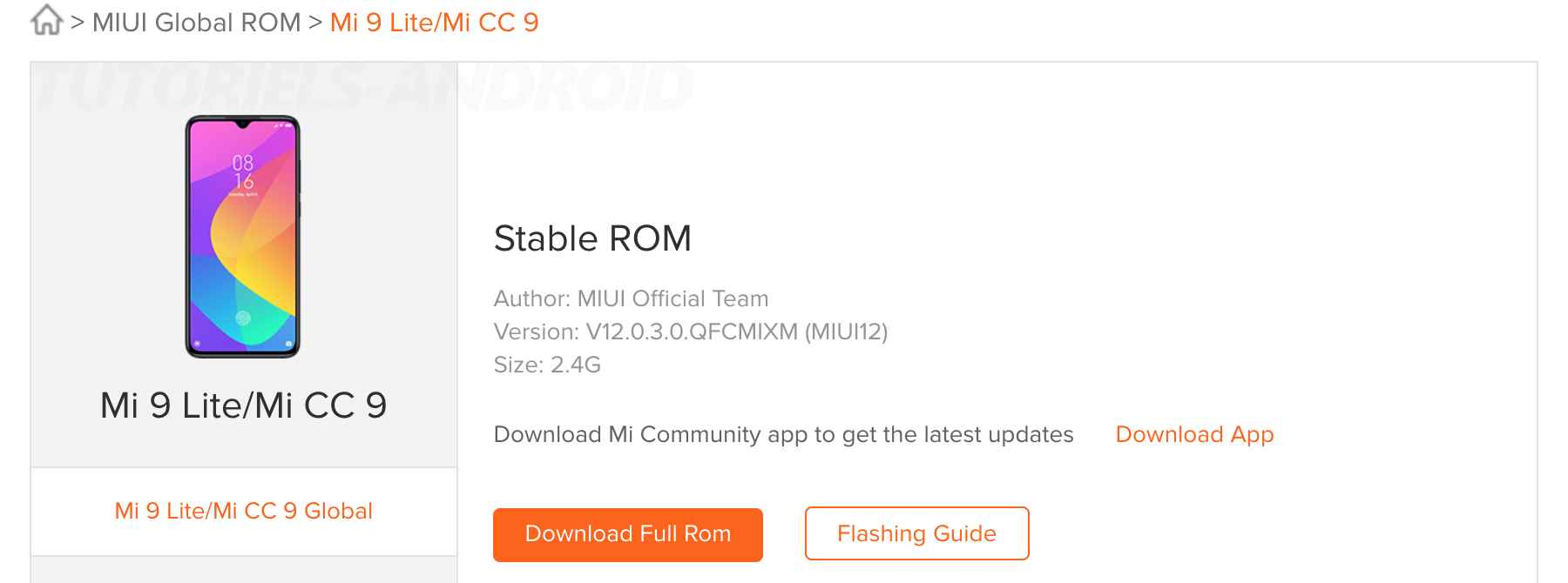 ROM Miui 12 Stable