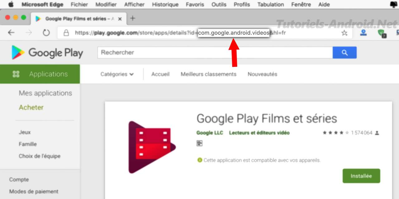 Trouver le nom du package d'une application sur Google Play