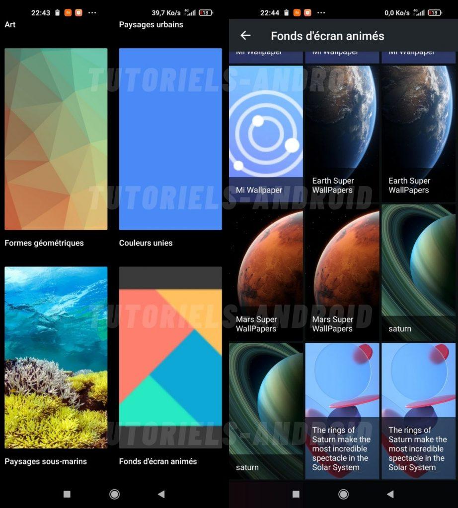 Activer Super Wallpapers Mi 10T Pro via Google Wallpapers
