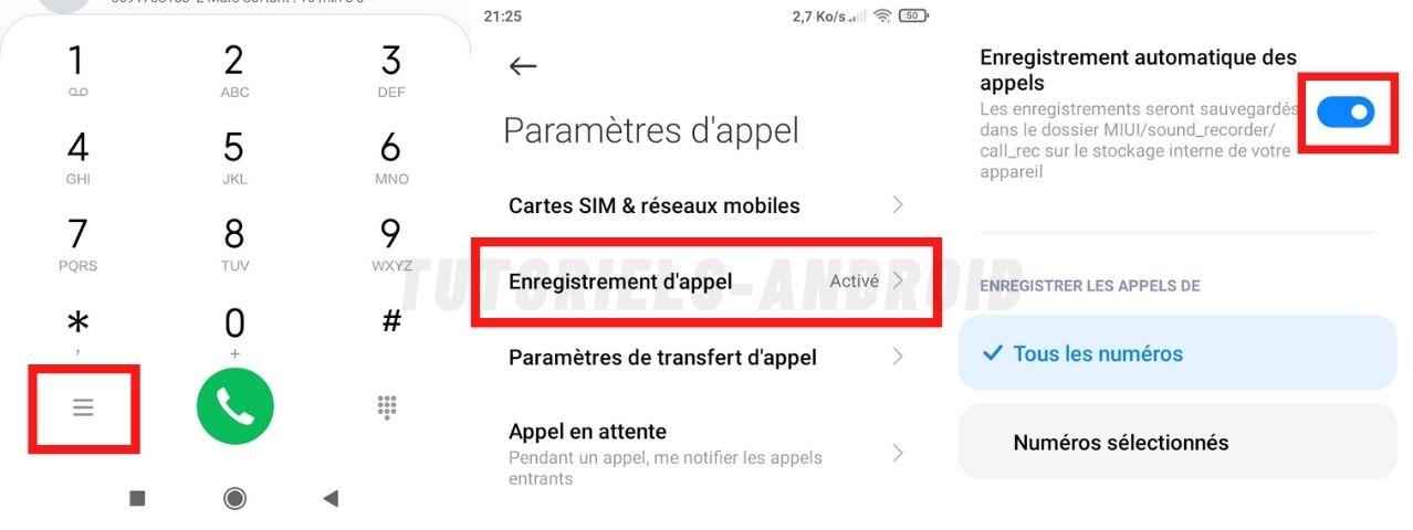 Enregistrement des appels sur Xiaomi