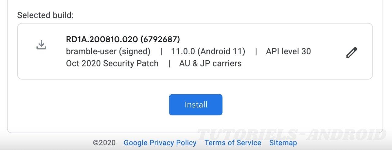 Flasher un Firmware officiel - Pixel 4A (5G)
