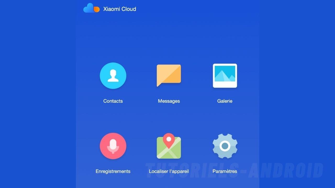 Sauvegarde des enregistrements Mi Cloud