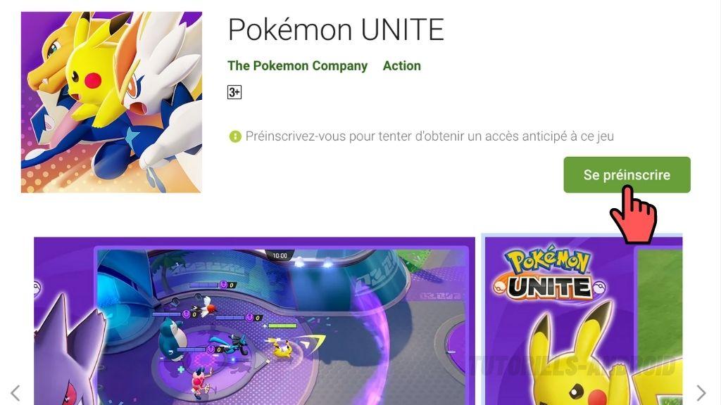 Pré-inscription à Pokémon UNITE