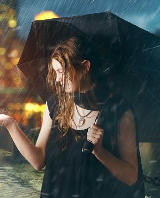 Photomanipulation Sous la pluie avec Photoshop
