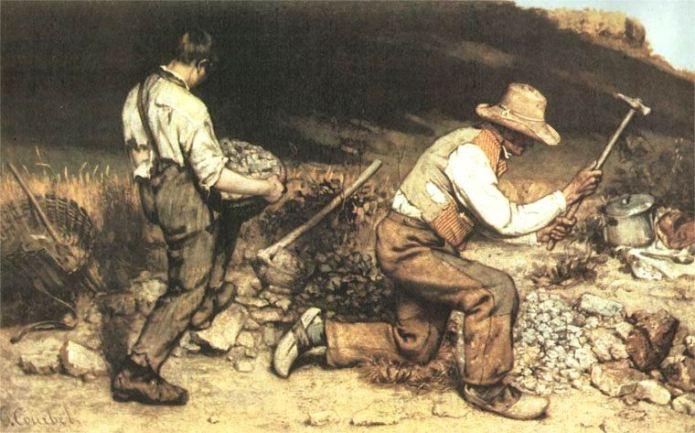 Gli spaccapietre Courbet