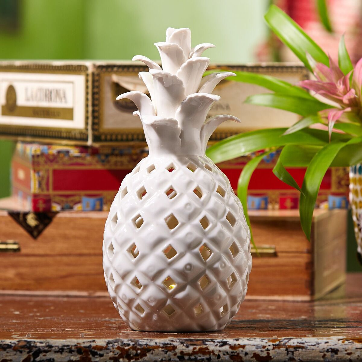 pineapple decorations for kitchen base cabinets unfinished decorative white ceramic light tutti decor ltd