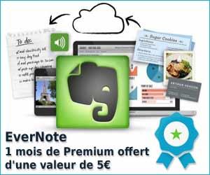 EverNote : 1 mois de Premium gratuit