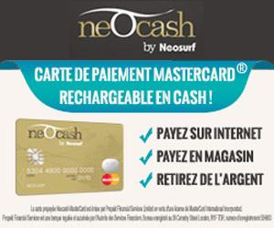 Neocash by Neosurf : la carte prépayée MasterCard® rechargeable et non bancaire
