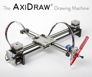 AxiDraw : la machine à écrire et dessiner