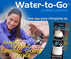 Water-to-Go : bouteille filtrante avec nano-technologie développée pour la NASA