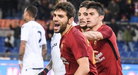 Fazio Esulta gol Roma-Cagliari 16 12 2017