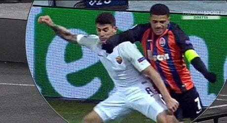 Perotti Fallo Tison Shakhtar Donetsk-Roma 21 02 2018