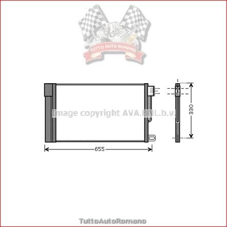 FT5314 Radiatore aria condizionata Ava FIAT PUNTO / GRANDE