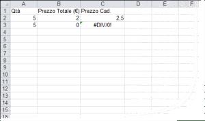 Come gestire gli errori #VALORE! e #DIV/0! con VAL.ERR