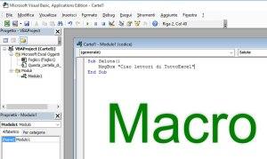 Le Macro di Excel