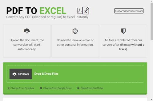Convertire da PDF a Excel gratuitamente con PDF To Excel