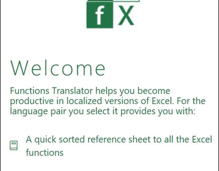 Microsoft Excel Formula Translator